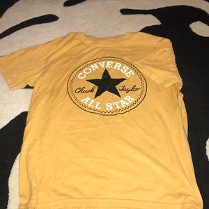 yellow converse shirt